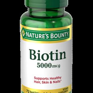 Nature's Bounty Biotin 5,000 mcg