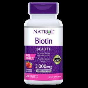 Natrol Biotin 5000 mcg. 250 Fast Dissolve Tablets