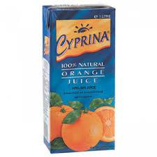 Cyprina Orange juice 1Lit
