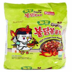 Ramen Samyang Hot Chicken Jjajang Noodles (korea) 5 pack