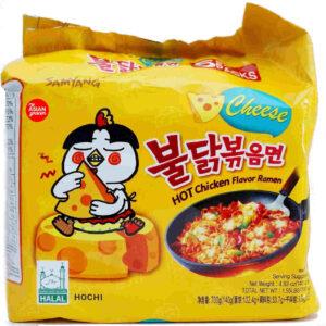 Ramen Samyang Hot Chicken Noodles cheese (korea) 5 Pack