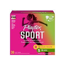 Playtex Sport Tampons Multi-Pack, Regular & Super, 36 Ct