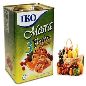Iko 3 fruits Buiscut tin 700gm (Malayshia)