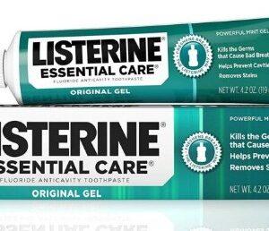 Listerine Essential Care Powerful Mint Gel Toothpaste