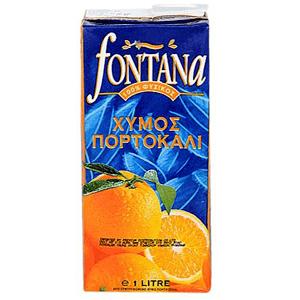 Fontana 100% Natural Orange Juice 1Lt